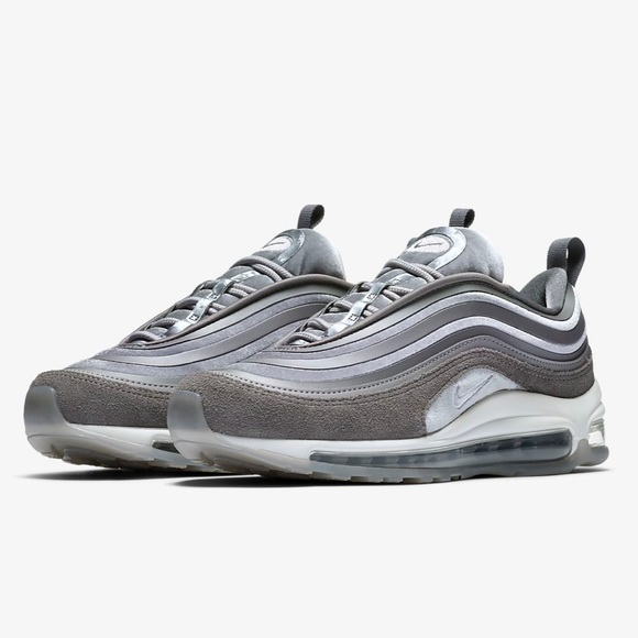 Nike air Max 97 gray gun smoke white Womens sz 7 ae49ebf78